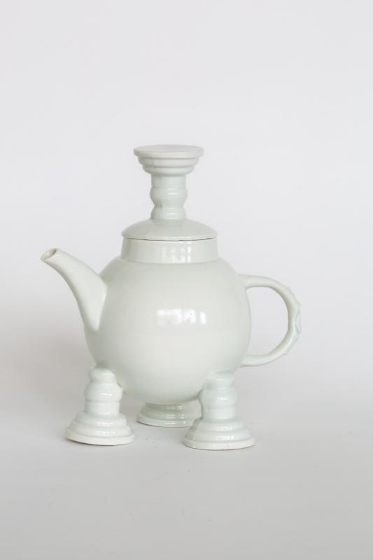 Light green teapot, 2021. Porcelain